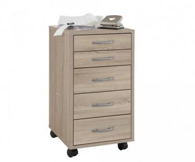 336-001 Freddy Eiche Bürocontainer Rollcontainer für Büro als Druckerwagen etc.