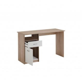 3004-001 Jackson Eiche Nb. / weiss Schreibtisch Arbeitstisch Bürotisch Kinder...
