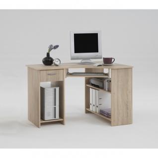 350-001 Schreibtisch Eckschreibtisch Felix Eiche Sägerau Dekor FMD