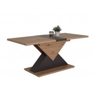 Esszimmertisch Säulentisch Küchentisch ausziehbar 010268 LIV T Artisan Eiche ...
