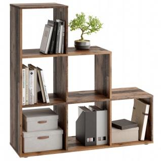 Stufen Regal Bücherregal Stauraumregal Raumteiler MEGA 1 Old Style