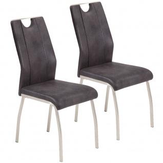 2er SET R5188-03 Trieste anthrazit / schwarz Esszimmerstuhl Küchenstuhl Stuhl... - Vorschau 1