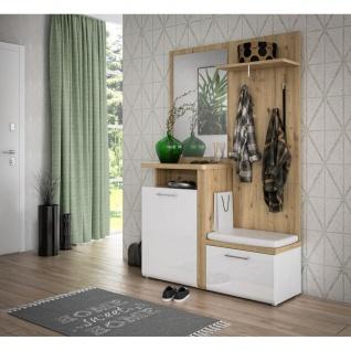 Diele Kompakt Garderobe Kleiderständer Schuhschrank Flur ca. 129 x 201 x 43 c...
