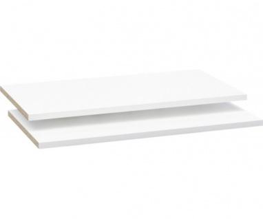 2er Set Einlegeböden Fachböden Zusatzfachböden für OHS722X4-120 Ohio weiss Ar...