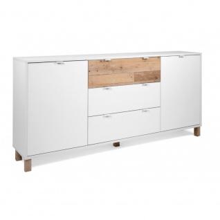 Kommode Sideboard Stauraumschrank ca. 180 x 86 x 35 cm 003026 MENORCA Weiß / ...