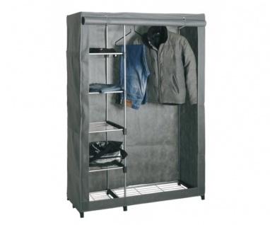 44340 Stoffkleiderschrank Stoffschrank Kleiderständer grau Tambus Metall