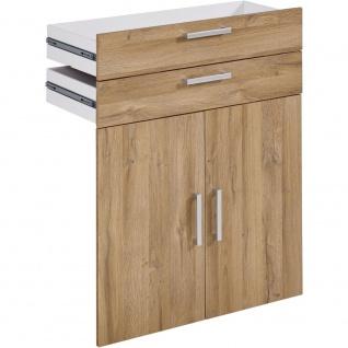 3012-013 CALVIA 13 Alteiche Türensatz mit 2 Schubladen Drehtüren Satz gross f...