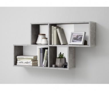 270-001 NORA NEU Light Atelier grau / weiß Hängeregal Wandregal Bücherregal S...