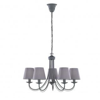 Kronleuchter Deckenleuchte Deckenlampe Cortez betonfarbig grau 5x E14, 110600578