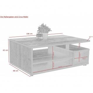 Couchtisch Beistelltisch Wohnzimmertisch klappbar ca. 90 x 60 cm THEO Weiß - Vorschau 3