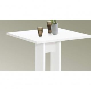 Tisch Esszimmertisch Küchentisch Beistelltisch ca. 70 x 70 cm BANDOL Weiß FMD - Vorschau 3