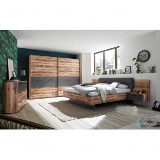 Schlafzimmer SET ALICANTE Alholz Dekor Alpin Lodge Beton Grau inkl. Kleidersc...
