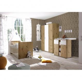 3 tlg. Babyzimmer Kinderzimmer Jugendzimmer 87-332-T2 BIBO Artisan Eiche Nb. ...