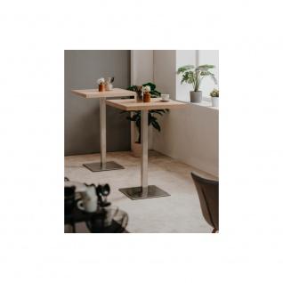 Bartisch Partytisch Beistelltisch Säulentisch ca. 105 cm hoch QUADRATO 70 Son... - Vorschau 3