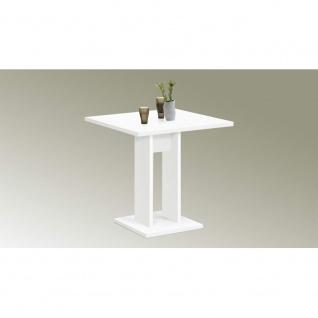 Tisch Esszimmertisch Küchentisch Beistelltisch ca. 70 x 70 cm BANDOL Weiß FMD - Vorschau 2