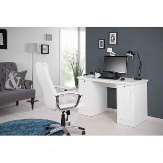 002825 LANDWOOD 31 Weiß Schreibtisch Arbeitstisch Bürotisch Laptop Tisch Land... - Vorschau 4