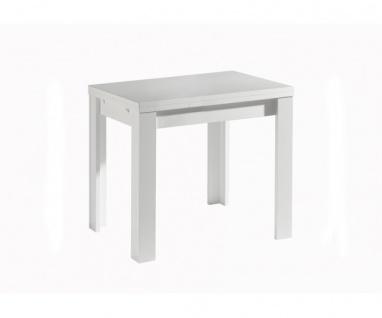 0590 / 80 x 60 cm weiss Deal ZIP Esszimmertisch Küchentisch Speisezimmer ausz...