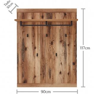 Garderobenpaneel Wandgarderobe Kleiderständer Paneel ca. 80 x 117 x 30 cm PRATO - Vorschau 2