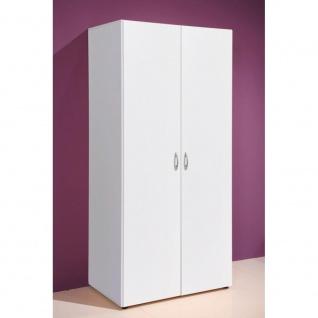 58-122-17 BASE 2 Weiß Kleiderschrank, Jugendzimmerschrank Stauraumschrank