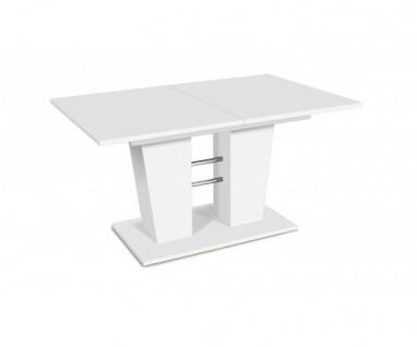 001353 Breda Esszimmertisch Esstisch Tisch Auszugtisch weiss ca. 140 cm auszi...