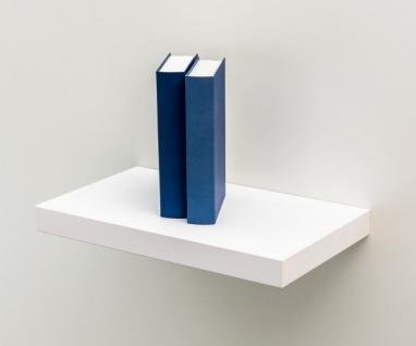 TEW Weiss 50 cm Wandregal Hängeregal Bücherregal Wandboard Steckboard