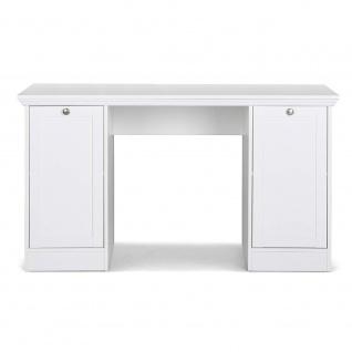 002825 LANDWOOD 31 Weiß Schreibtisch Arbeitstisch Bürotisch Laptop Tisch Land... - Vorschau 2