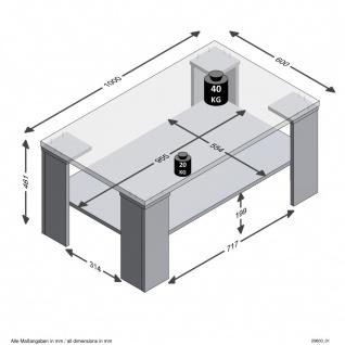 Beistelltisch Tisch Wohnzimmertisch ca. 100 cm BASTIA Matera grau / Artisan E... - Vorschau 2