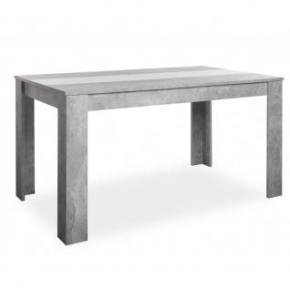 002740 NIKLAS Beton grau / weiß oder schwarz Esstisch Küchentisch Esszimmer S...