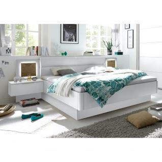 Bettanlage Doppelbett Ehebett Schlafzimmer inkl. Nachtkommoden 180 x 200 cm C...