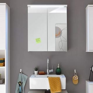 Spiegelschrank Badspiegel inkl. LED Beleuchtung ca. 60 x 69 x 20 cm POOL Weiß... - Vorschau 3