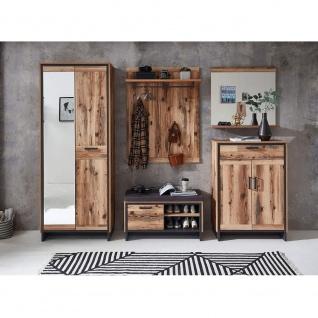 Garderobenpaneel Wandgarderobe Kleiderständer Paneel ca. 80 x 117 x 30 cm PRATO - Vorschau 4