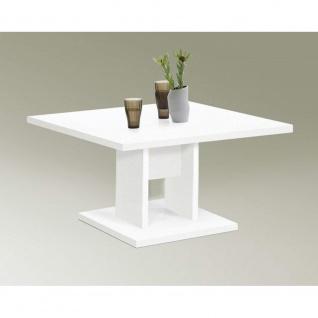 123456 BANDOL Weiß Tisch Couchtisch Wohnzimmertisch Beistelltisch ca. 70 x 70 cm