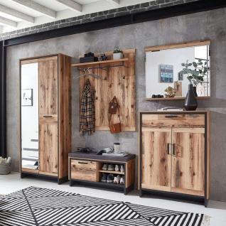 Garderobenpaneel Wandgarderobe Kleiderständer Paneel ca. 80 x 117 x 30 cm PRATO - Vorschau 5