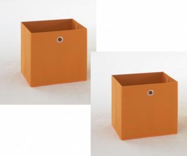 2 - er Set Orange Korb Regalkorb Stoffkorb Einschubkorb Mega ORANGE ca. 32.5 ...