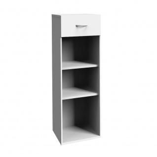 Regal Multiraumkonzept in weiß, Putzschrank mit 1 Schublade, Wito Kommode mit...