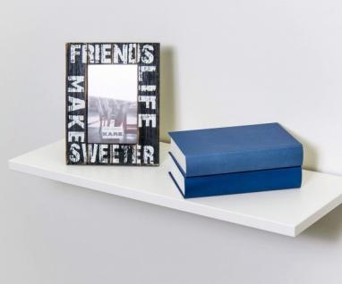 EVA Weiss ca. 60 x 1, 9 x 24 cm Hängeregal Wandregal Wandboard Bücherregal