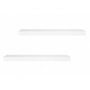 2er Set 002398 SHELVY 60 Hochglanz Weiß Wandboard Wandregal Steckboard Hänger...
