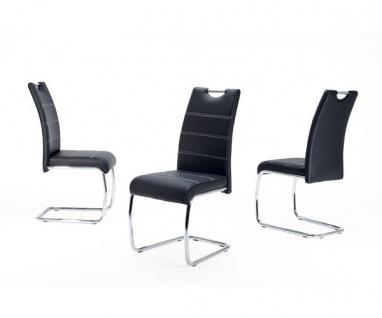 910701 FLORA schwarz Esszimmerstuhl Küchenstuhl Schwingstuhl Kunstleder
