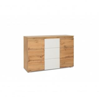 002517 IMAGE 4 Honigeiche / weiß Kommode Beistellkommode Sideboard ca. 120 x ...
