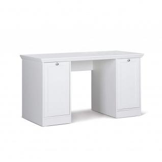 002825 LANDWOOD 31 Weiß Schreibtisch Arbeitstisch Bürotisch Laptop Tisch Land...