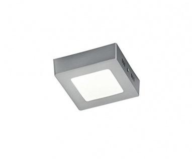 657110607 Grau 12 x 12 cm ZEUS SMD LED Deckenleuchte Deckenlampe 5 Watt Glas ...