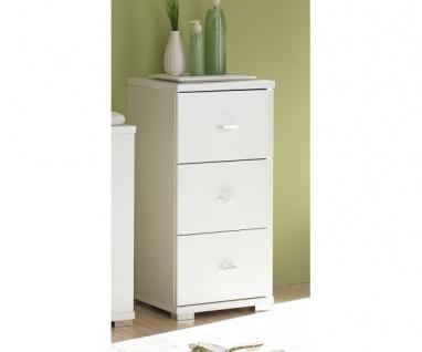 36-021-17 Unterschrank, Seitenschrank klein Badezimmerschrank mit 3 Schublade...