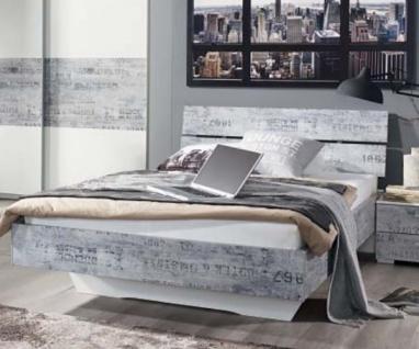 A0346.70T4.20 Sumatra Weiß / Vintage grau Jugendbett Futonbett Gästebett Bett...