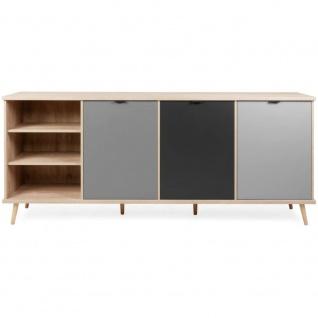 Sideboard Kommode Beistellkommode 002935 EPIK 56 Elegance Endgrain / Grau ca....