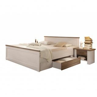 22-062-B5 + 38-062-B5 LUCA Pinie Weiß Nb. Bettanlage Doppelbett Ehebett Bett ...
