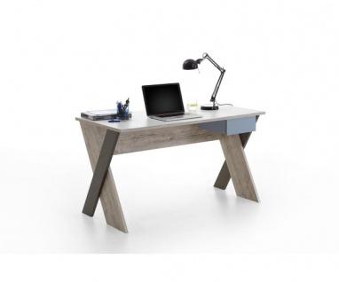 814-006 Nona 6 Sandeiche Nb. / bunt Schreibtisch Kinderzimmertisch Tisch Büro...