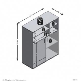 Kommode Büroregal Siedeboard ca. 95 x 119 x 40 cm 355-003 RUST 3 Beton Grau /... - Vorschau 4