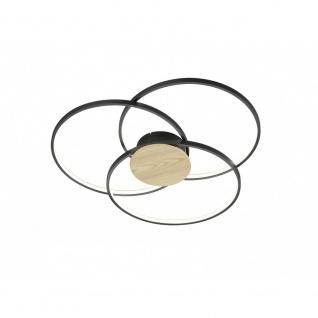 673210332 Deckenleuchte Sedona schwarz matt LED 40W 3000K Durchm. ca. 80 cm