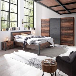 Set - Schlafzimmer inkl. Bettanlage Nachtkommoden Kleiderschrank