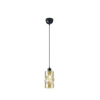 R30531013 Pendelleuchte Swirl schwarz matt, amberfarbig 1x E27 W Höhe ca. 150...